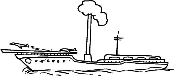 steam aircraft carrier coloring pages