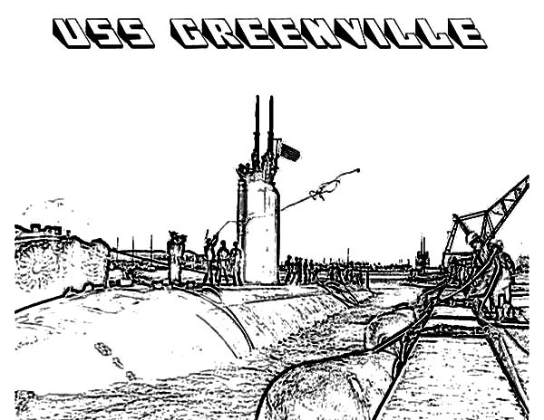 submarine 16 uss greenville aircraft carrier coloring pages