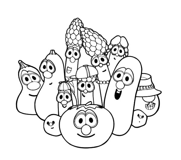 The best place for coloring page at coloringsky part 22 for Veggie tales coloring pages