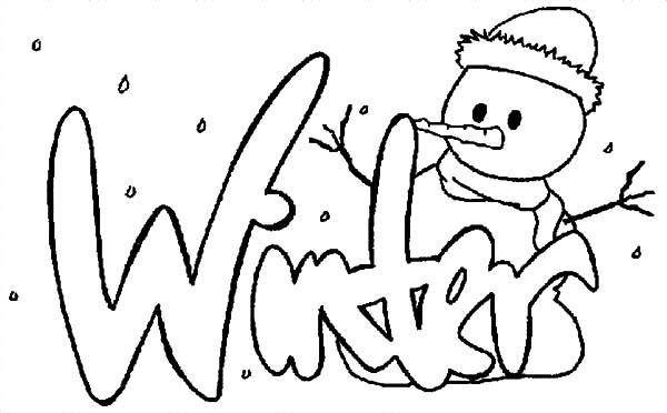 winter snowman holidays coloring pages