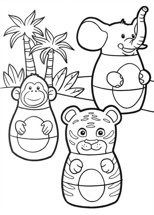 animal characters in higglytown heroes coloring page