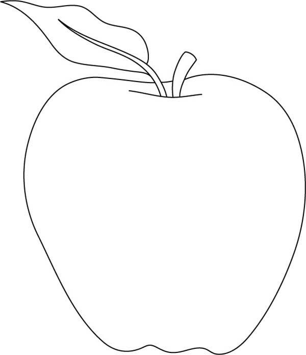 шаблон картинки яблоко номерам может