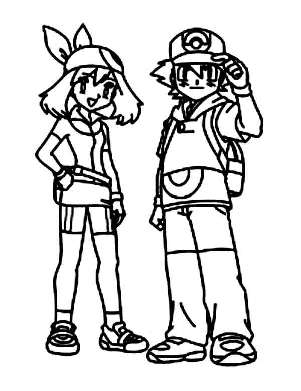 ash misty coloring pages - photo#21