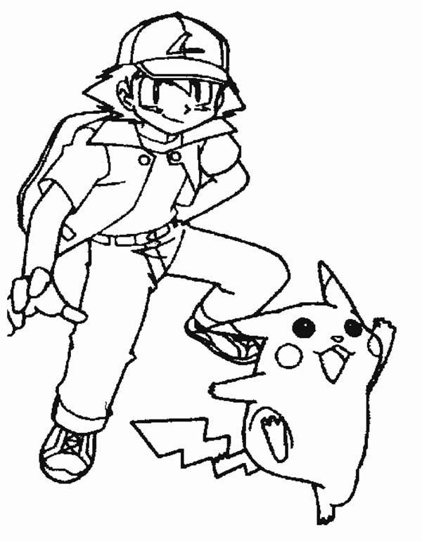 ash and pokemon coloring pages - photo#13