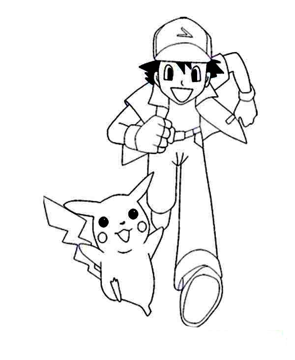 ash and pokemon coloring pages - photo#47