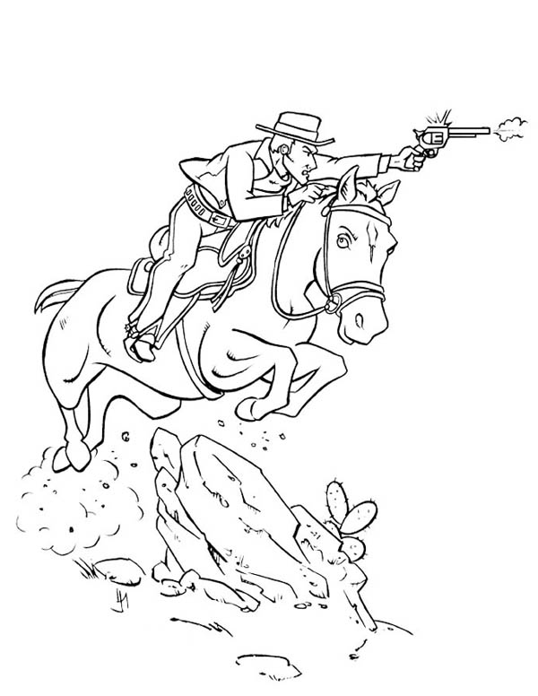 Awesome Fantasy Cowboy Coloring Page Coloring Sky