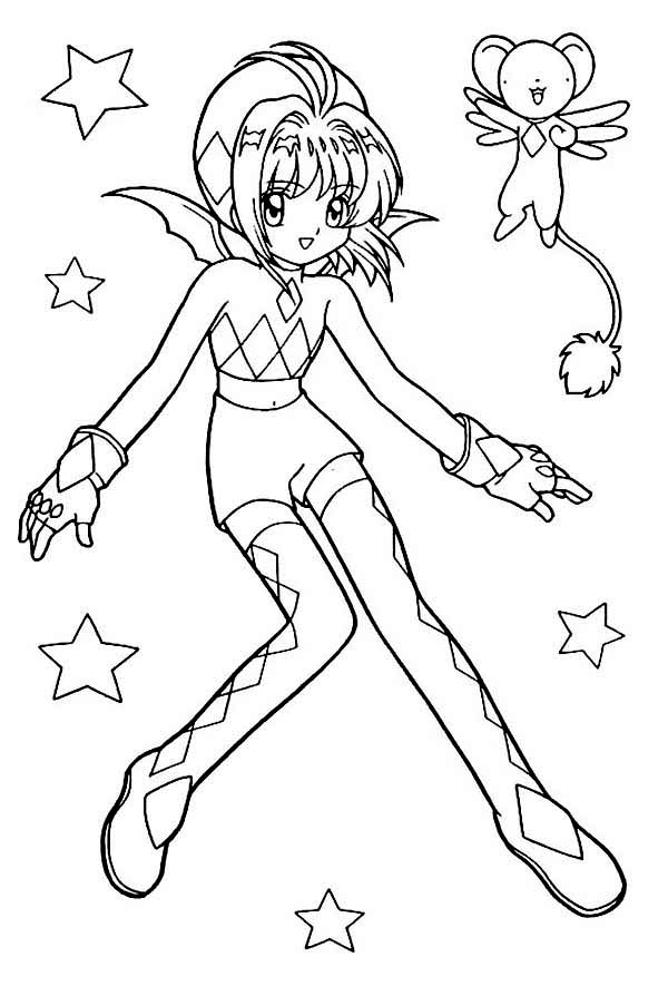 Anime, : Awesome Valentines Day Anime Coloring Page