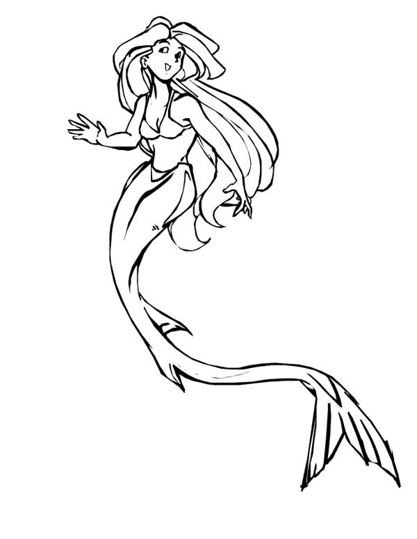 pretty mermaids coloring pages - photo#43
