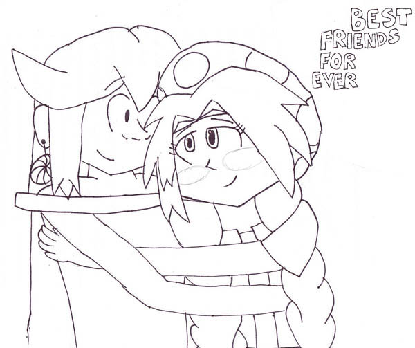 Best Friend Forever On Friendship Day Coloring Page