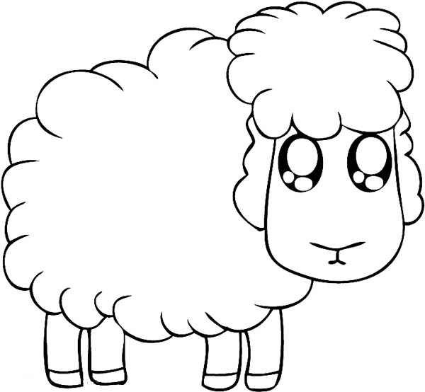 big eyed lamb coloring page coloring sky. Black Bedroom Furniture Sets. Home Design Ideas