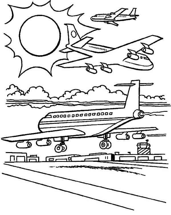 airport maps coloring pages | Busiest Airport In The World Coloring Page : Coloring Sky