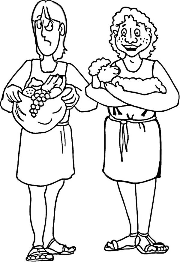 cain and abel coloring pages - photo#19