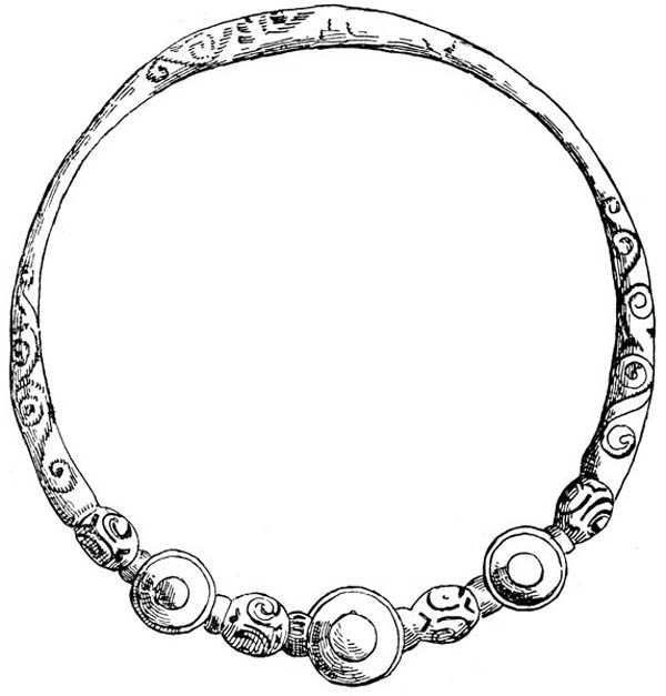 Jewelry, : Celtic Bracelet Jewelry Coloring Page