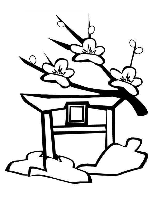 Cherry Blossom In Japan Coloring Page Coloring Sky