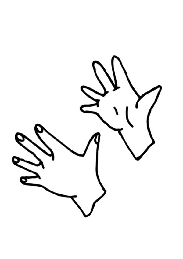 Hand, : Clapping Hand Coloring Page