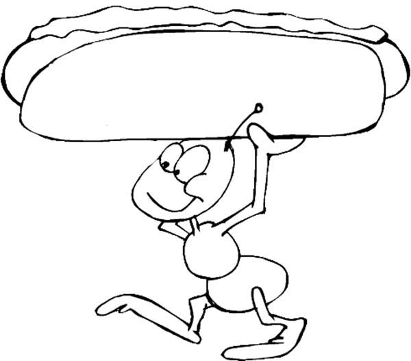 It is an image of Exhilarating Hot Dog Coloring Pages