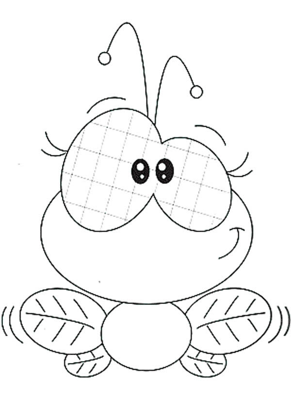 Cute Female Fly Coloring Page Coloring Sky