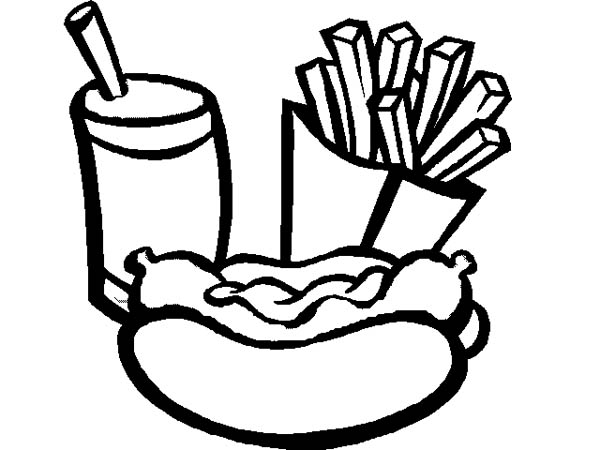 This is a picture of Slobbery Hot Dog Coloring Pages