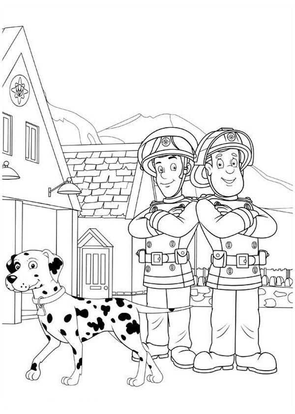 Elvis Cridlington And Fireman Sam Coloring Page Coloring Sky