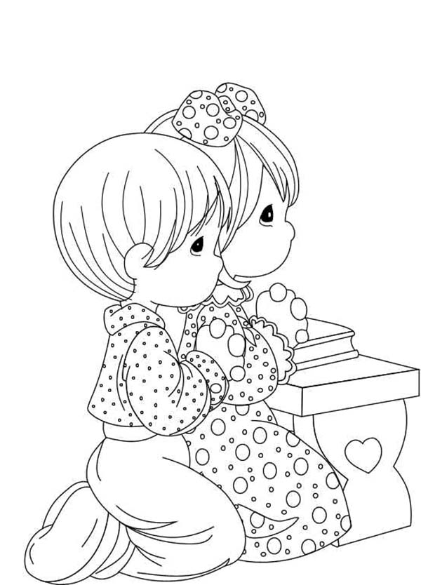 Everyday Lords Prayer For Help Coloring Page Coloring Sky