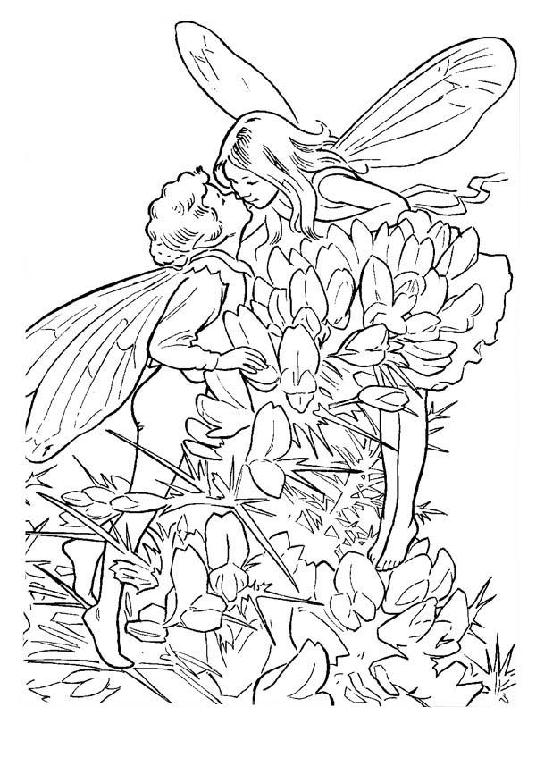 Fantasy, : Fantasy Love Story Coloring Page