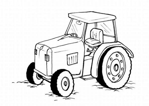 farmer on tractor coloring pages - photo#27