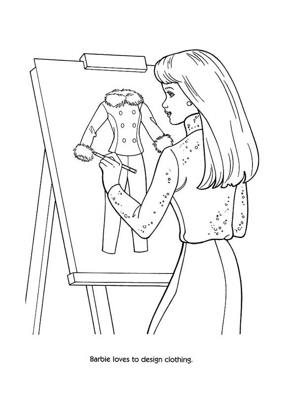 Fashion Model Design Clothing Coloring Page  Coloring Sky