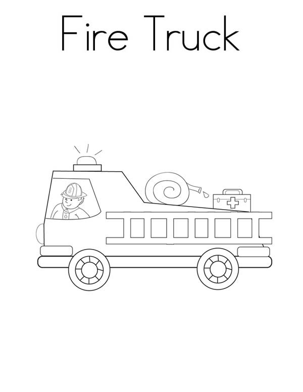 fire truck sound it sirens coloring page