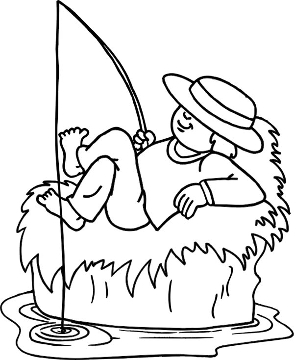 Fisherman While Sleeping Coloring Page : Coloring Sky