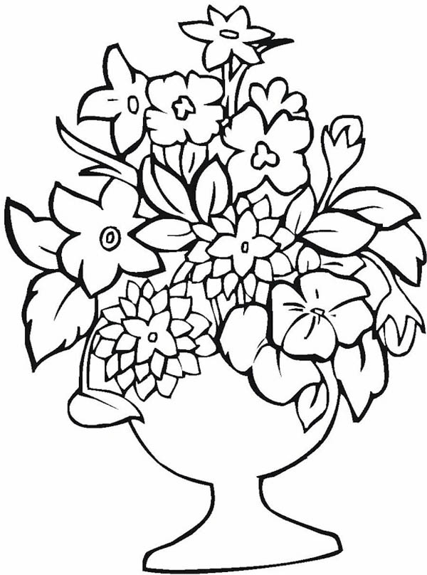 vases with flowers coloring pages - photo#36