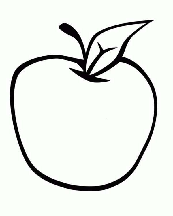 Fresh Apple For Fresh Salad Coloring Page Coloring Sky