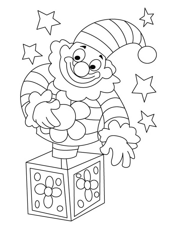funny clown jack in the box coloring page   coloring sky