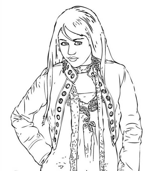 High School Musical, : Gabriella Develops a Love for Troy in High School Musical Coloring Page