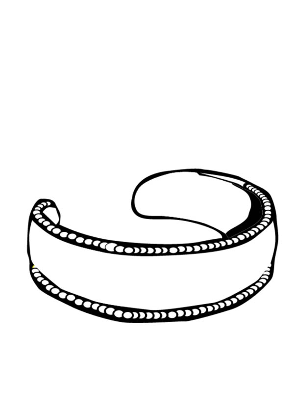 Jewelry, : Gold Earring Jewelry Coloring Page