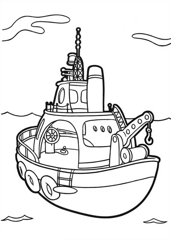Higglytown Heroes Fishing Boat Coloring Page Coloring Sky