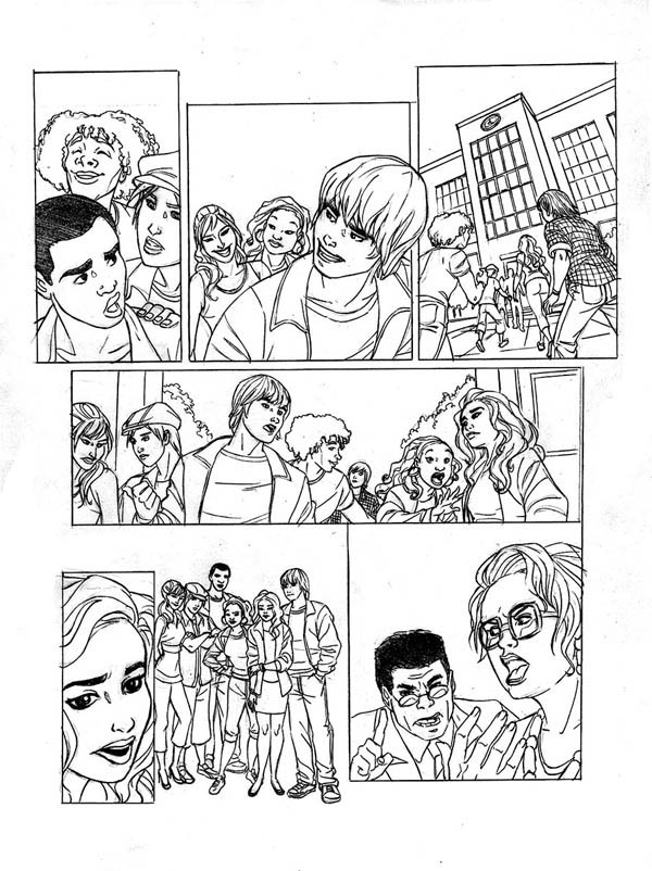 High School Musical Comic Coloring Page : Coloring Sky