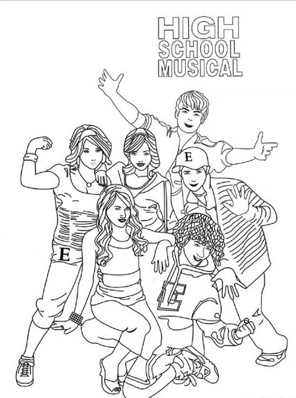 highschool musical coloring pages sharpay | High School Musical Poster Coloring Page | Coloring Sky