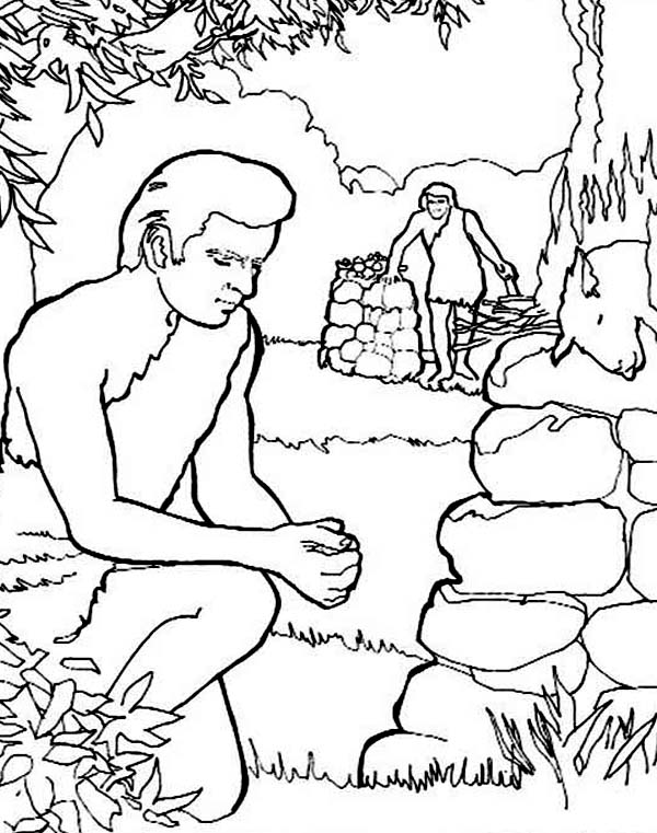 cain and abel coloring pages - photo#25