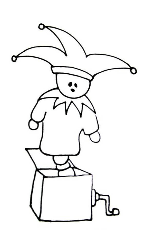 Jack in the Box, : How to Draw Jack in the Box Coloring Page