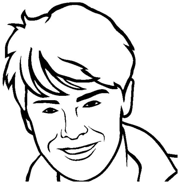 High School Musical, : How to Draw Zac Efron from High School Musical Coloring Page