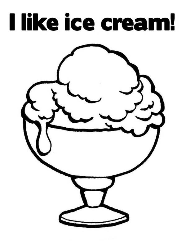 I Like Ice Cream Coloring Page : Coloring Sky