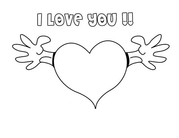 I Love You Let Me Hug You Coloring Page : Coloring Sky