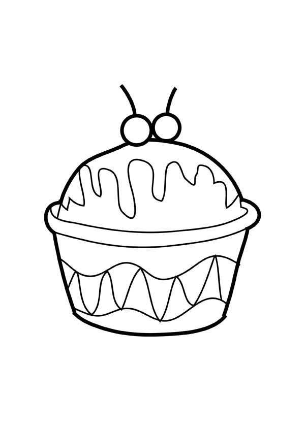 Ice Cream In Cup Coloring Page Ice Cream In Cup Coloring