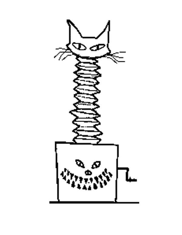 Jack In The Box Scary Cat Coloring Page Coloring Sky