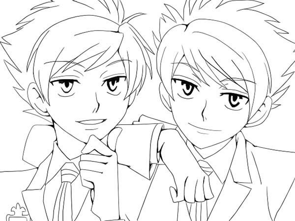 japan style of animation anime coloring page