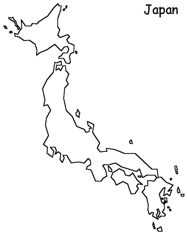 Japan World Map Coloring Page : Coloring Sky