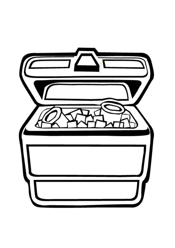 Jewelry, : Jewelry Chest Coloring Page