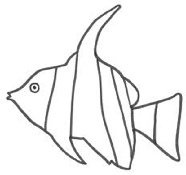 Angel Fish Making Bubbles Coloring Page : Coloring Sky | 566x600