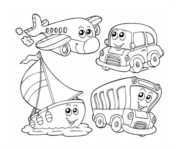 kindergarten kids learn about transportation coloring page coloring sky. Black Bedroom Furniture Sets. Home Design Ideas