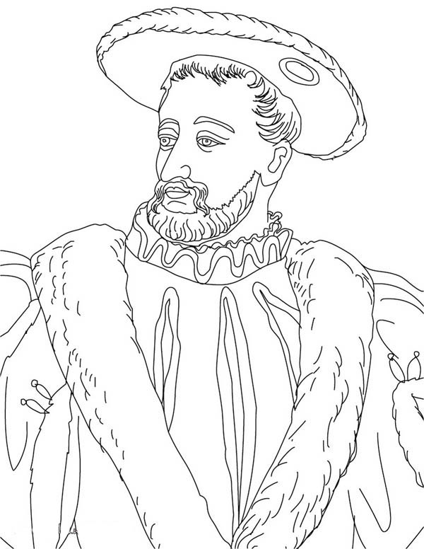 King Of French Francis Coloring Page Coloring Sky